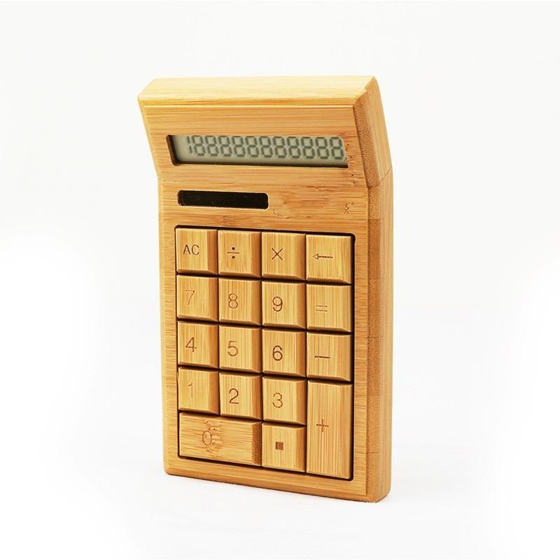Calculatrice solaire en bambou
